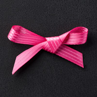 "Melon Mambo 3/8"" Stitched Satin Ribbon"