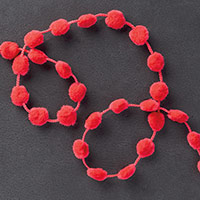 Real Red Pompom Trim