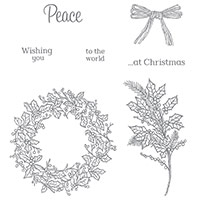 Peaceful Wreath Photopolymer Stamp Set