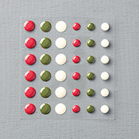 Home For Christmas Enamel Dots