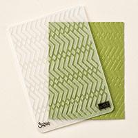 Zig Zag Textured Impressions Embossing Folder