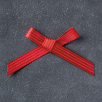 """Real Red 3/8"""" (1 Cm) Stitched Satin Ribbon"""