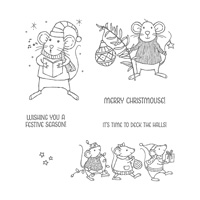Merry Mice Clear-Mount Stamp Set