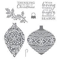 Embellished Ornaments Clear-Mount Stamp Set