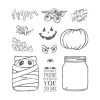 Jar Of Haunts Photopolymer Stamp Set