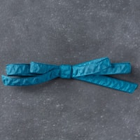 "Dapper Denim 3/8"" (1 Cm) Ruched Ribbon"