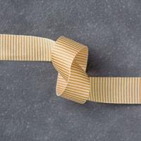 """Delightful Dijon 5/8"""" (1.6 Cm) Mini Striped Ribbon"""