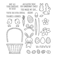 Basket Bunch Photopolymer Stamp Set
