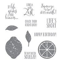 Lemon Zest Clear-Mount Stamp Set