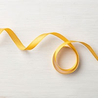 "Crushed Curry 3/8"" Mini Chevron Ribbon"