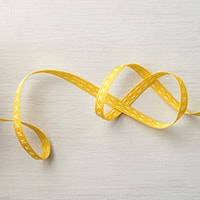 "Daffodil Delight 1/4"" Double-Stitched Ribbon"