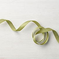 "Old Olive 3/8"" Mini Chevron Ribbon"