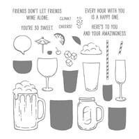 Mixed Drinks Photopolymer Stamp Set