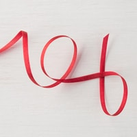 """Real Red 1/8"""" (3.2 Mm) Solid Ribbon"""