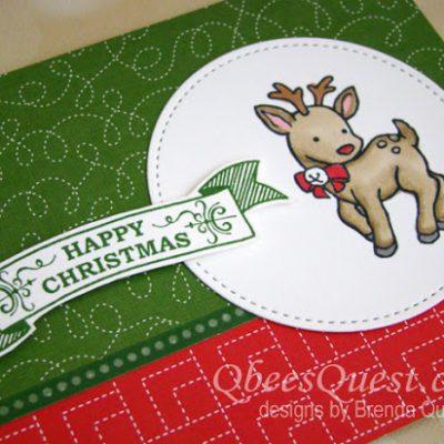 Reindeer Chirstmas Card (CT# 120)